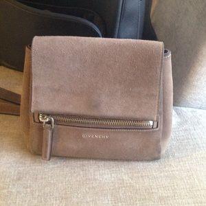Givenchy mini Pandora suede satchel purse bag